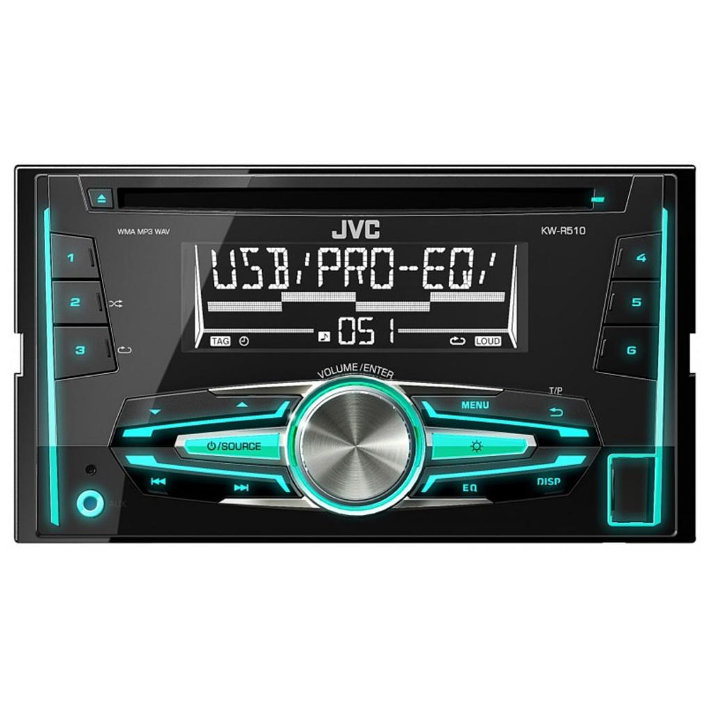 Автопроигрыватель CD/MP3 2DIN JVC KW-R510EE