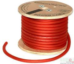 Провод силовой красный 2 Ga, DAXX P02R.