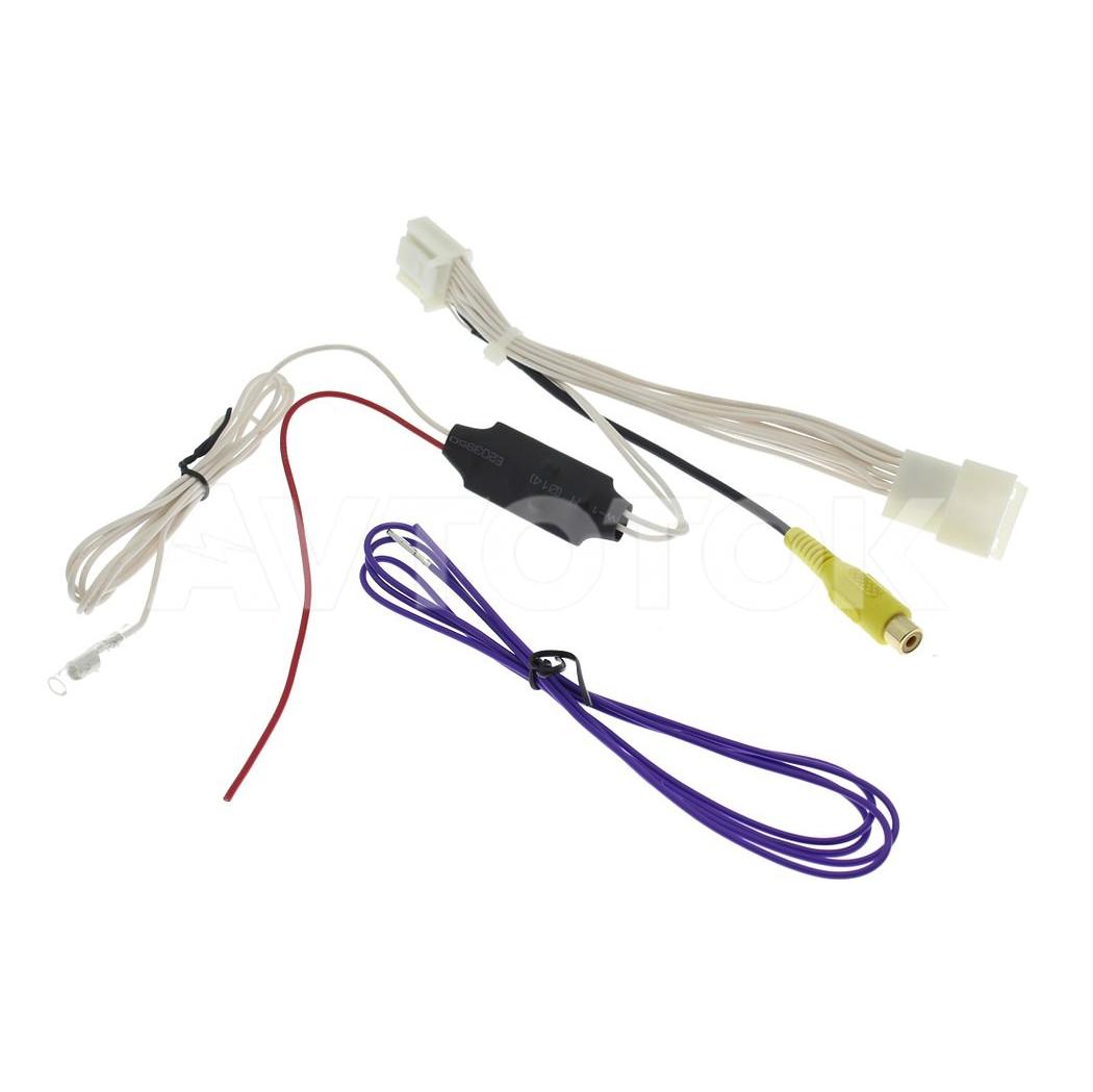 Адаптер для подключения видеокамеры к штатной магнитоле Toyota / Subaru 2012 -2014 (16 pin).