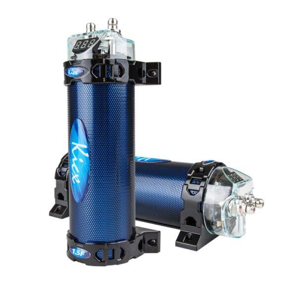 Автомобильный конденсатор с вольтметром Kicx FLC 1.5